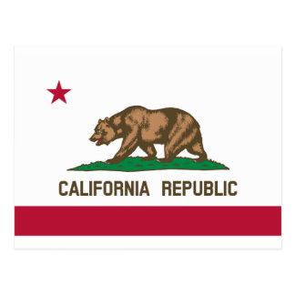 California Flag Postcard