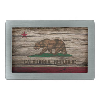 California Flag Rustic wood Belt Buckle