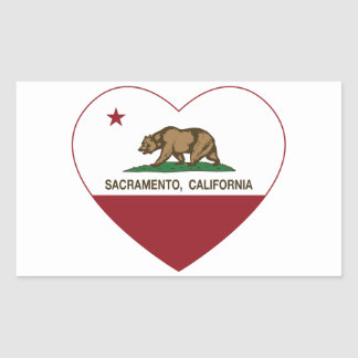 california flag sacramento heart sticker