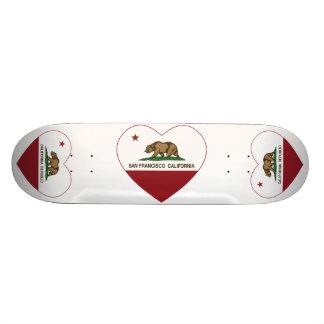 california flag san francisco heart skate board