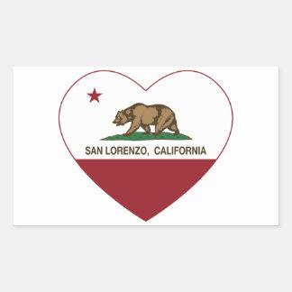 california flag san lorenzo heart sticker