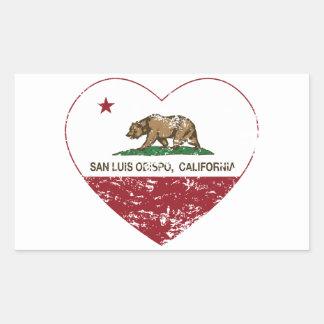 california flag san luis obispo heart distressed sticker