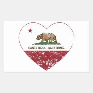 california flag santa rosa heart distressed