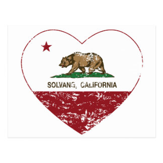 california flag solvang heart distressed postcard