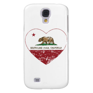 california flag south lake tahoe heart distressed