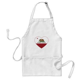 california flag st Helena heart Standard Apron