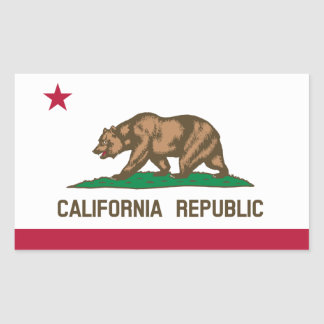 California* Flag Sticker   Drapeau de Californie