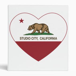 california flag studio city heart 3 ring binder