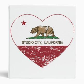 california flag studio city heart distressed 3 ring binders