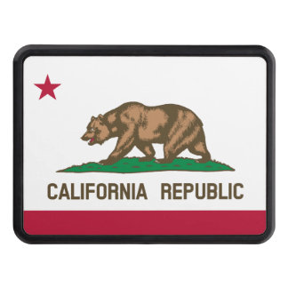 California flag trailer hitch cover