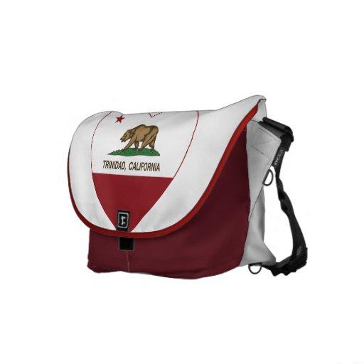 california flag trinidad heart courier bag