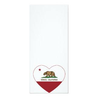 california flag venice heart card