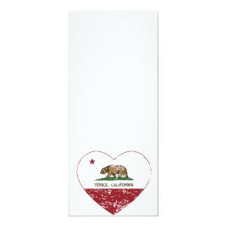 california flag venice heart distressed card