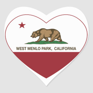california flag west menlo park heart heart sticker