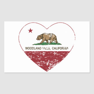 california flag woodland hills heart distressed sticker