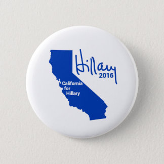 California for Hillary - State Pride Signature 2 Inch Round Button
