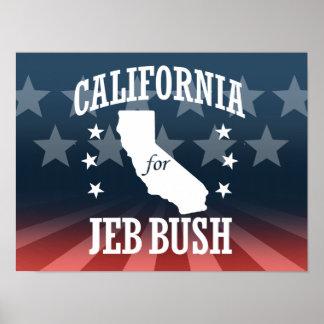 CALIFORNIA FOR JEB BUSH POSTER