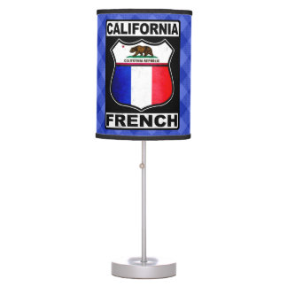 California French American Table Lamp