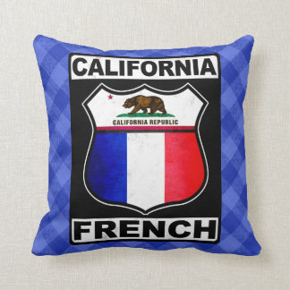 California French American Throw Pillow
