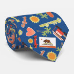 California Fun Pattern Tie