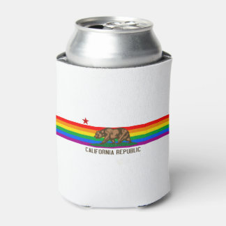 California Gay Pride Flag Can Cooler