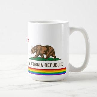 California Gay Pride Flag Coffee Mug