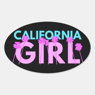 California Girl Oval Sticker