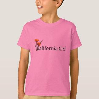 California Girl Poppies 2 Kids T-shirt