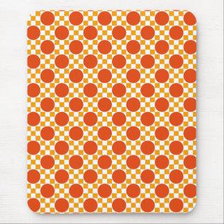 California gold dots and Trinidad orange squares Mouse Pad