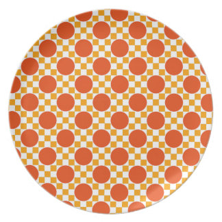 California gold dots and Trinidad orange squares Plate
