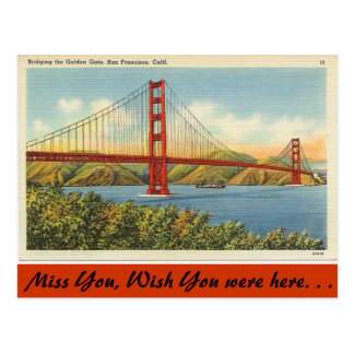 California, Golden Gate Bridge Postcard