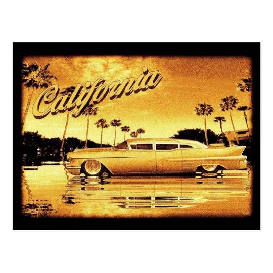 california golden limo postcard