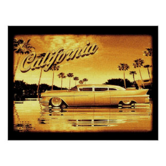 california golden limo poster