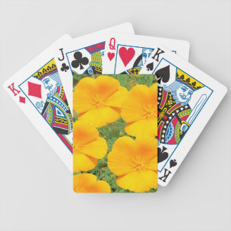 California Golden Poppy Bicycle Playing Cards