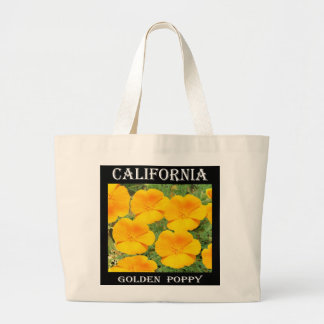 California Golden Poppy Large Tote Bag