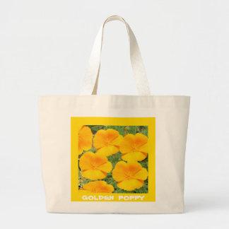 California Golden Poppy Large Tote Bag
