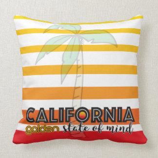 California Golden State of Mind Throw Pillow