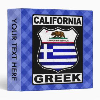 California Greek American Binder