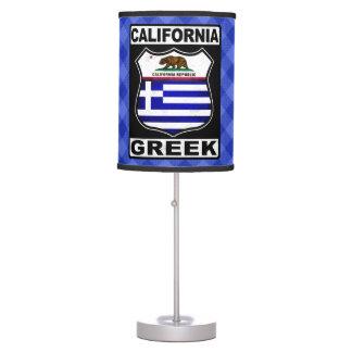 California Greek American Table Lamp