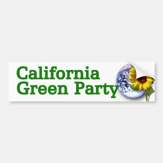 California Green Party bumper sticker