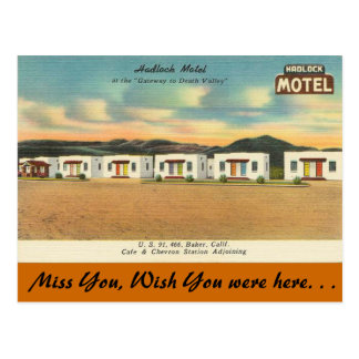 California, Hadlock Motel Postcard