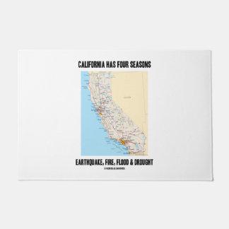 California Has Four Seasons Earthquake Fire Flood Doormat