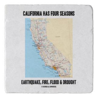 California Has Four Seasons Earthquake Fire Flood Trivet