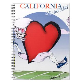 California head heart, tony fernandes spiral notebook