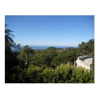 California Hearst Castle Sky Photograph Postcard