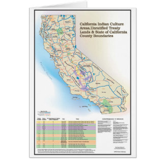 California Indian Culture Areas - Greeting Card