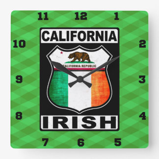 California Irish American Wall Clock