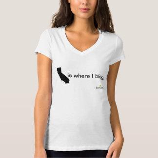 California is where I blog. T-Shirt