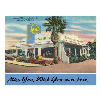 California, K. C. Jones Drive-in Postcard