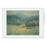 California landscape with Poppies (1213) Card
